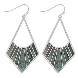 Silver Patina Statement Earring